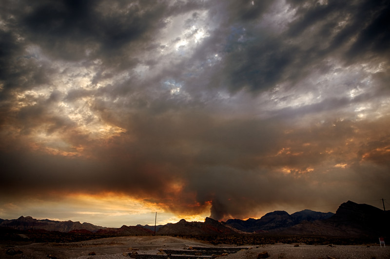 Another Carpenter Canyon fire sunset.... Hoping for some rain tomorrow to give the fire crews a hand. Our poor local forest will never be the same. <br /> <br /> Day 191 of 365<br /> 07-10-2013