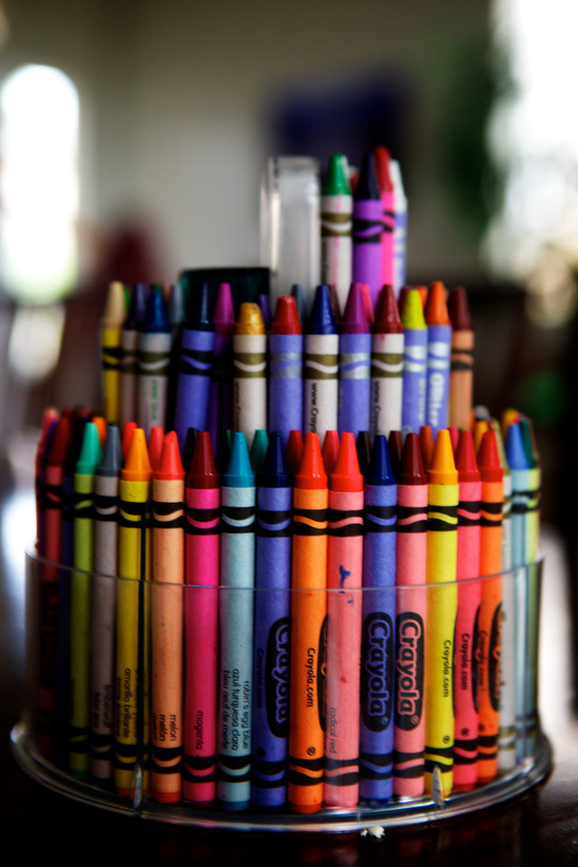 Ready for some art work!... Cool holder that can hold up to 160 Crayons! <br /> <br /> Day 79 of 365<br /> 03-20-2013