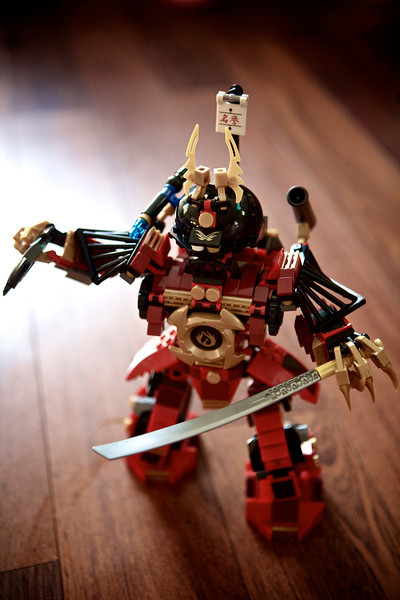 Lego's have come along way since I was a kid! This is Samurai Mech. This giant robot fights the snakes. This guys weapons are the boomerang and the sword. <br /> <br /> Day 163 of 365<br /> 06-12-2013