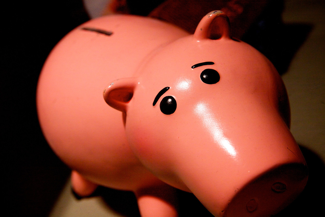 I found my Piggy Bank! Trouble is I think it's empty! Thinking i should do something about that! :)   Day 50 of 365 02-19-2013