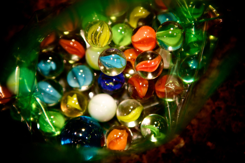 Liked the colors of these marbles, just had to try and capture them! <br /> <br /> Day 28 of 365<br /> 01-28-2013