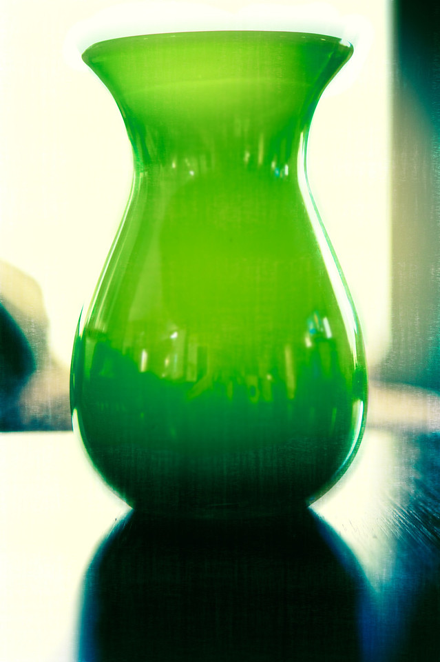 Not too exciting tonight, but decided to have fun with this green vase. 