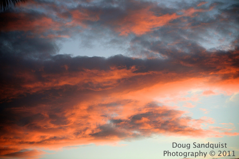 Cool clouds at sunset tonight!<br /> <br /> <br /> 10-10-2011