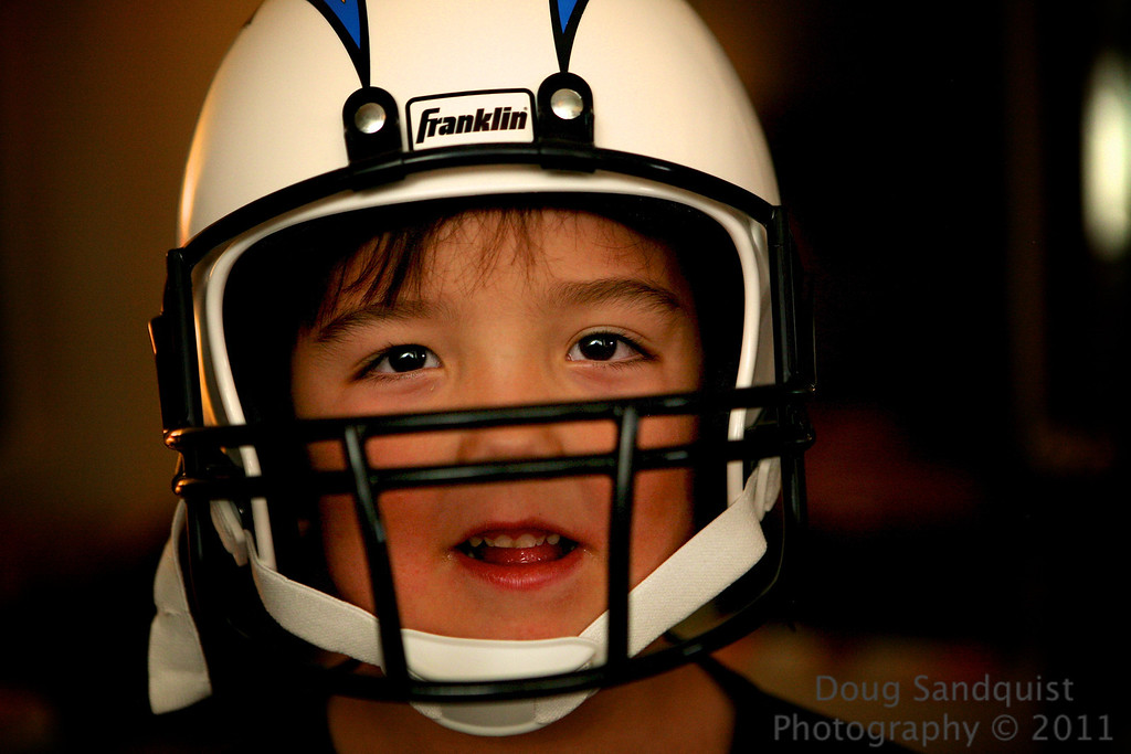 R got a helmet that he's really excited about..... <br /> <br /> 11-10-2011