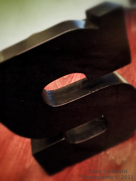 Hey I found an S on the dining room table.  Might as well take a picture of it.  :)