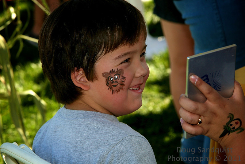 Had fun at the Pumpkin Patch today. Even had face painting! :)