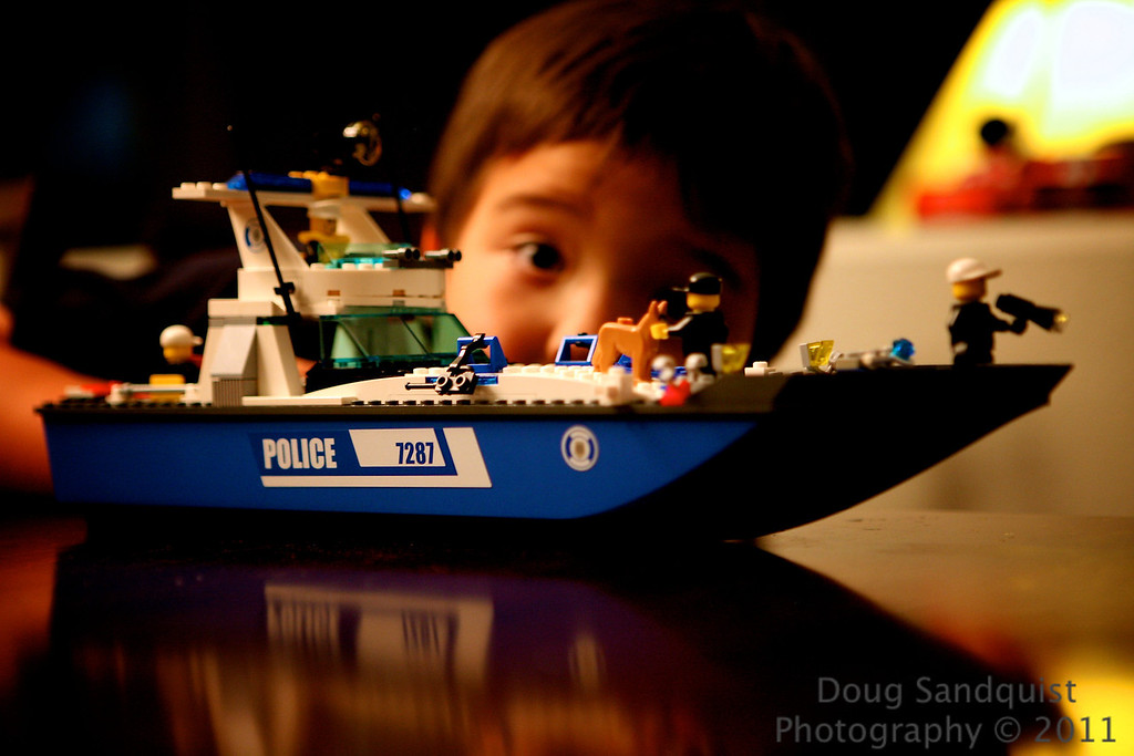 I don't remember Lego sets this cool when I was growing up.. Full on Police cruiser with hatches to hold criminals! <br /> Fun to catch R playing with it too!... <br /> <br /> 08-15-2011