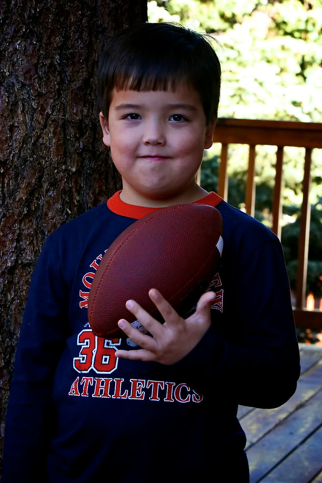 A picture of Reece with his football! <br /> <br /> 11-19-2011