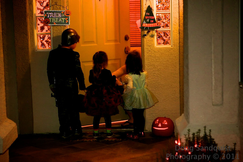The Kids had a ball dressing up and asking for candy. R was a Knight and J was a Princess of course... <br /> <br /> 10-31-2011