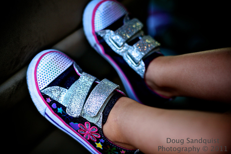 Cool new glittery shoes! Kids shoes are so cute! <br /> <br /> 09-29-2011
