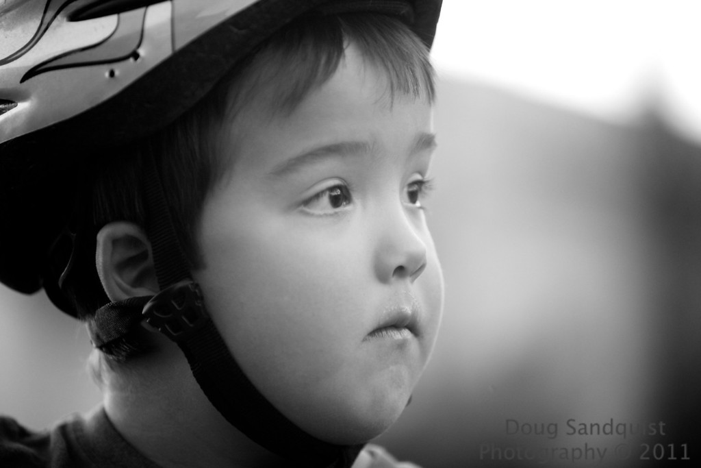 Spent a few minutes watching the kids ride their bikes tonight! and of course had camera in hand... This was a favorite! I liked the tone in B&W... <br /> <br /> 07-20-2011