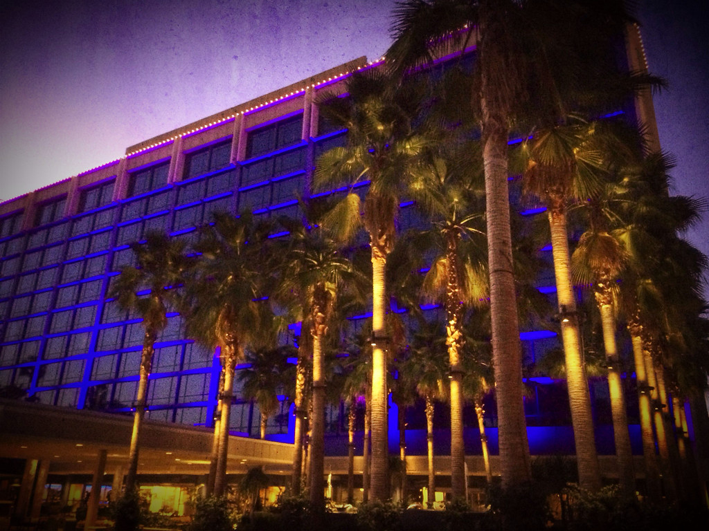 Dawn at the Disneyland Hotel!