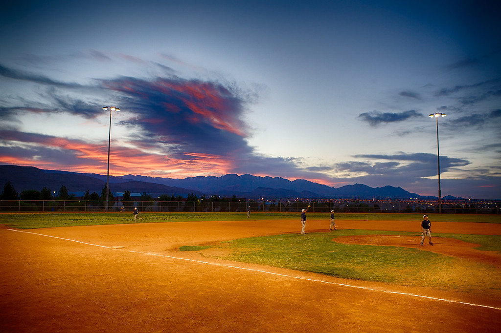 Sunset over the Ballfield