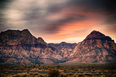 Red Rock Canyon at Dusk