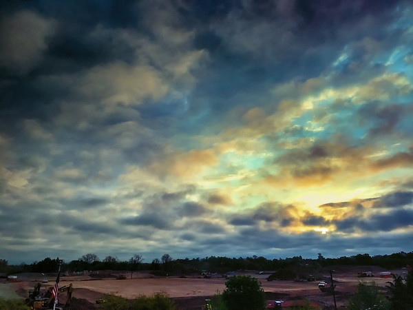 Sunrise over the new Wegmans site in Chantilly