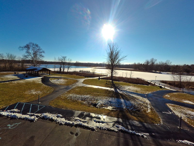 Touch of Snow at the Park 40 : Aerial Photography from Project Aerospace