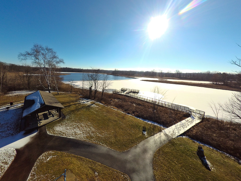 Touch of Snow at the Park 34 : Aerial Photography from Project Aerospace