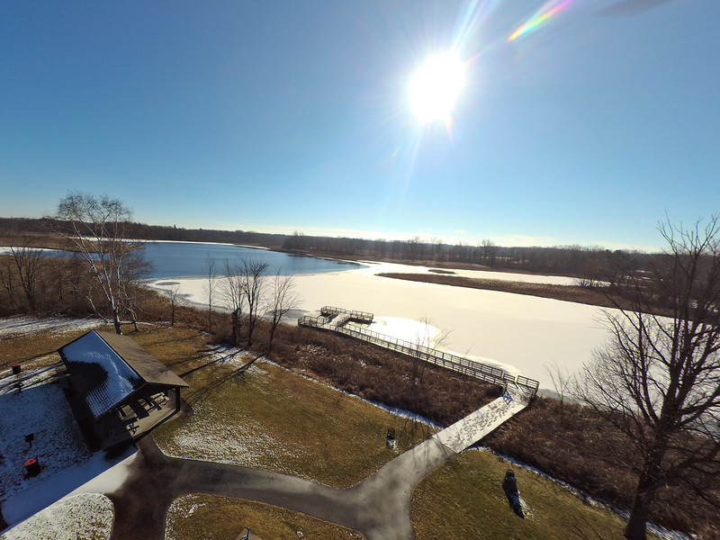 Touch of Snow at the Park 35 : Aerial Photography from Project Aerospace