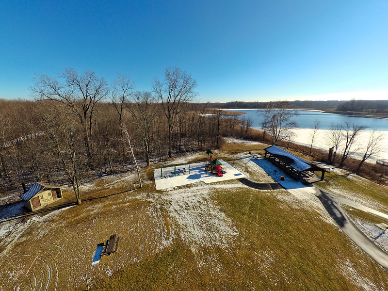 Touch of Snow at the Park 33 : Aerial Photography from Project Aerospace