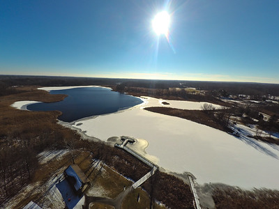 Touch of Snow at the Park 15 : Aerial Photography from Project Aerospace
