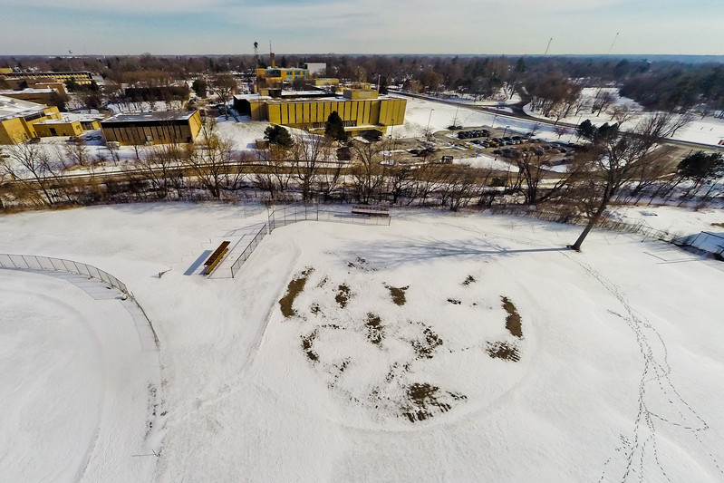 Deserted Architecture in Winter 3 : Aerial Photography from Project Aerospace