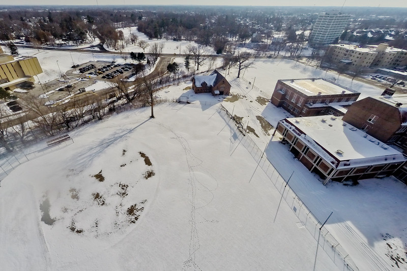 Deserted Architecture in Winter 1 : Aerial Photography from Project Aerospace