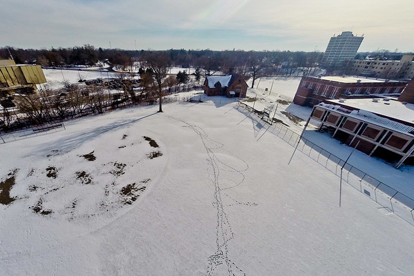Deserted Architecture in Winter 9 : Aerial Photography from Project Aerospace