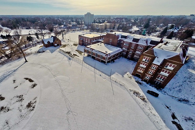 Deserted Architecture in Winter 10 : Aerial Photography from Project Aerospace