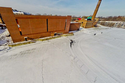Deserted Architecture in Winter 7 : Aerial Photography from Project Aerospace