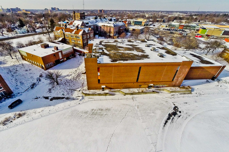 Deserted Architecture in Winter 13 : Aerial Photography from Project Aerospace