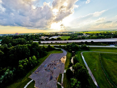 Summer Sunset at the Park 10 : Aerial Photography from Project Aerospace