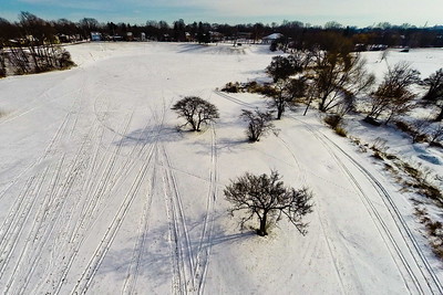 Deep Winter Field and Forest 16 : Aerial Photography from Project Aerospace
