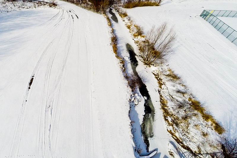 Deep Winter Field and Forest  1 : Aerial Photography from Project Aerospace