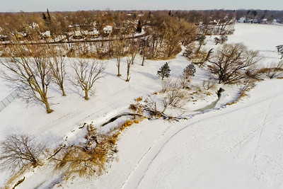 Deep Winter Field and Forest 14 : Aerial Photography from Project Aerospace