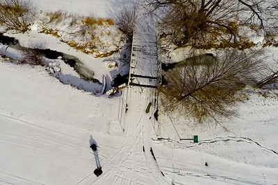 Deep Winter Field and Forest 7 : Aerial Photography from Project Aerospace