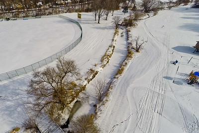 Deep Winter Field and Forest  10: Aerial Photography from Project Aerospace