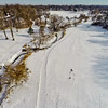 Deep Winter Field and Forest 13 : Aerial Photography from Project Aerospace