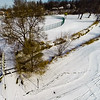 Deep Winter Field and Forest 12 : Aerial Photography from Project Aerospace