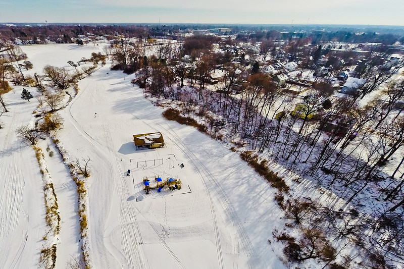 Deep Winter Field and Forest 11 : Aerial Photography from Project Aerospace