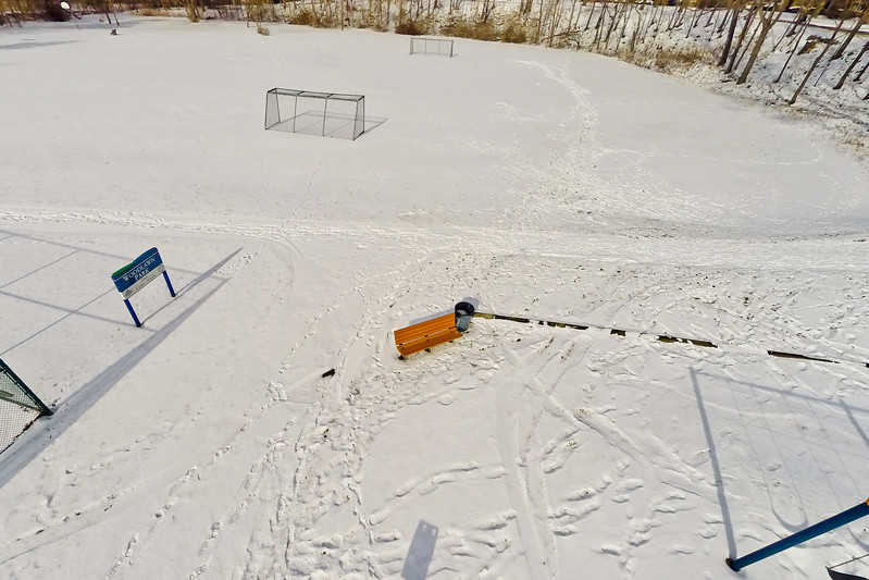 Community Park in Winter 1 : Aerial Photography from Project Aerospace