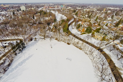 Community Park in Winter 4 : Aerial Photography from Project Aerospace