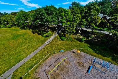 Community Park in Early Autumn 6 : Aerial Photography from Project Aerospace