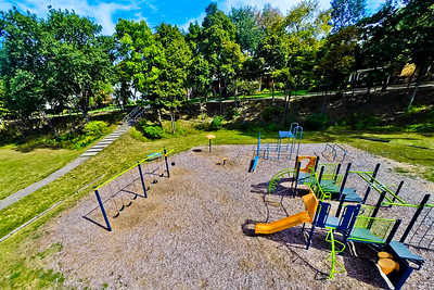 Community Park in Early Autumn 9 : Aerial Photography from Project Aerospace
