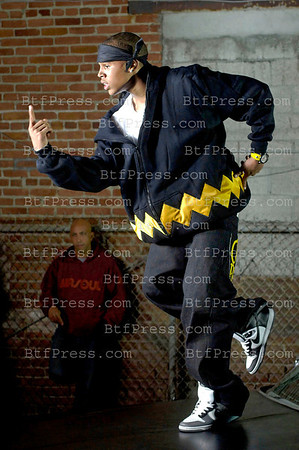 "Exclusive, Santa Monica October 27,2005. Chris Brown during the set of the music sing "" EXCUSE ME MISS """