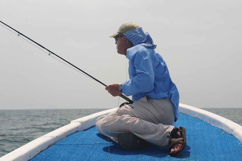 Terry Gunn looking or Mr. Tarpon, Holbox, Mexico