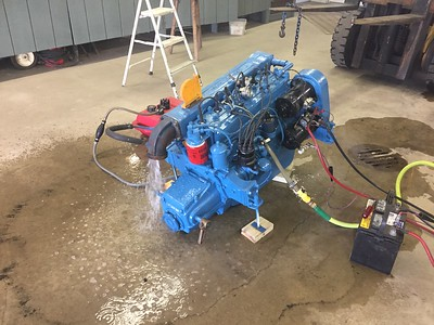 Another view of the engine running after the rebuild.