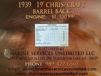 1939 Barrel Back was judged 100 pts at the 2021 Algonac show.