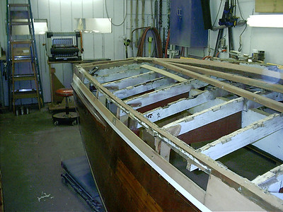Front view of side frame repairs.
