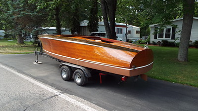 1939 Chris Craft Barrel Back. It is here for a complete restoration.