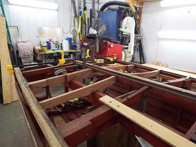 First two new bottom frames installed.